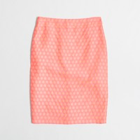 Factory pencil skirt in polka dot