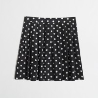 Factory printed pleated skirt