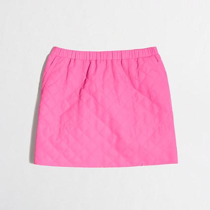 Factory girls' neon puffer skirt