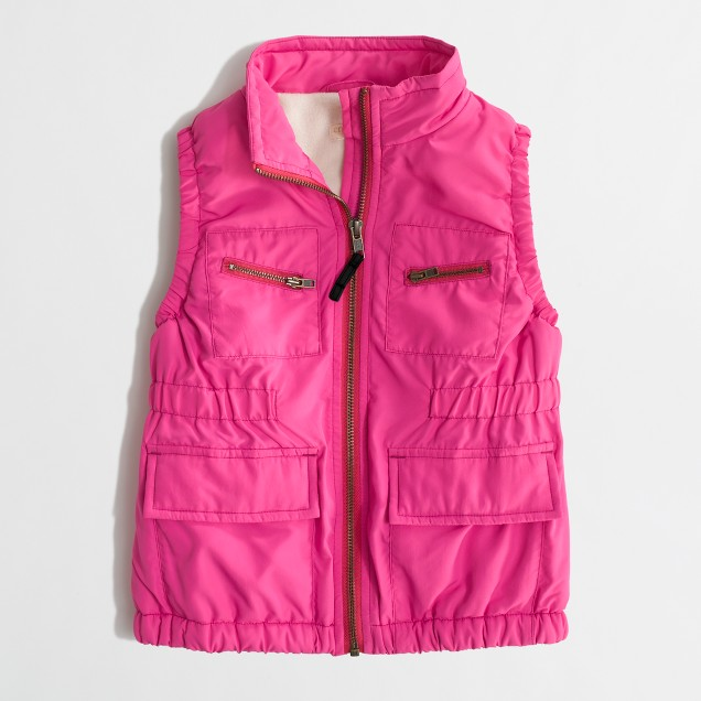Factory girls' cargo vest