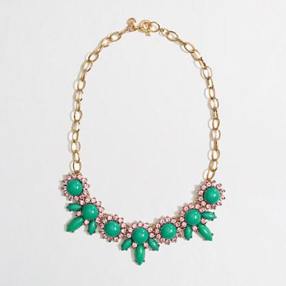 Factory crystal petal necklace