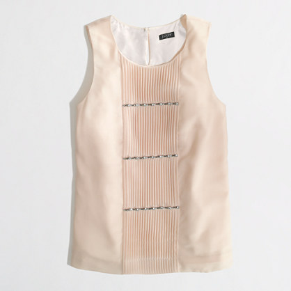 Factory pleated sparkle cami