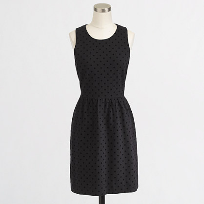 Factory ponte dress in velvet dot