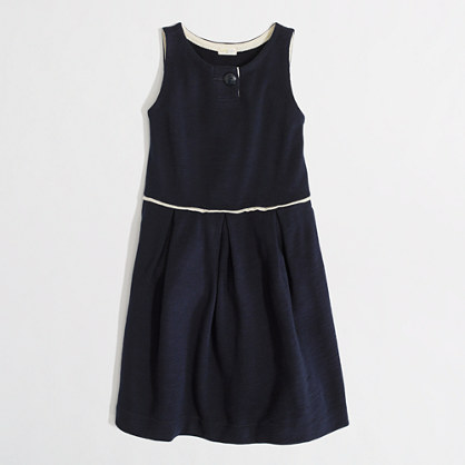 Factory girls' pleated button dress