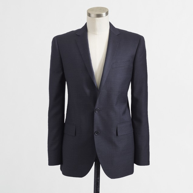 Factory Thompson suit jacket with double vent in glen plaid