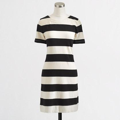 Factory short-sleeve boatneck dress