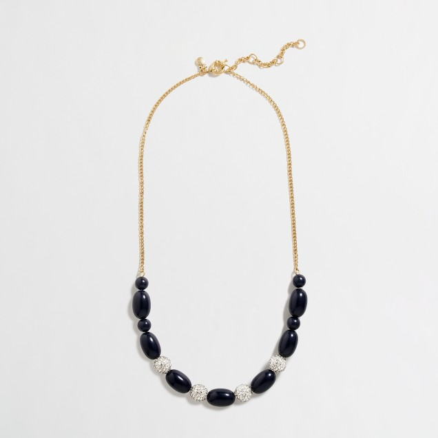 Factory bead and crystal necklace