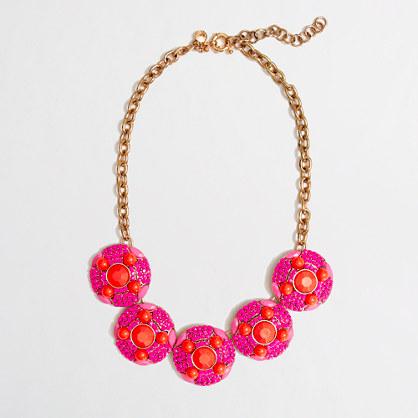 Factory translucent bib necklace