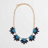 Factory flower fringe necklace