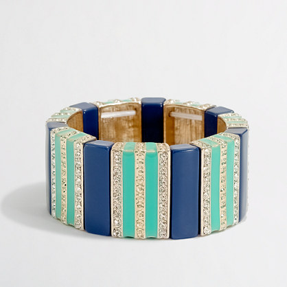 Factory crystal stripe bracelet