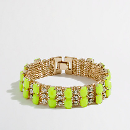 Factory crystal and neon stone bracelet
