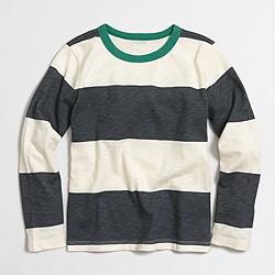 Boys' long-sleeve T-shirt in stripe