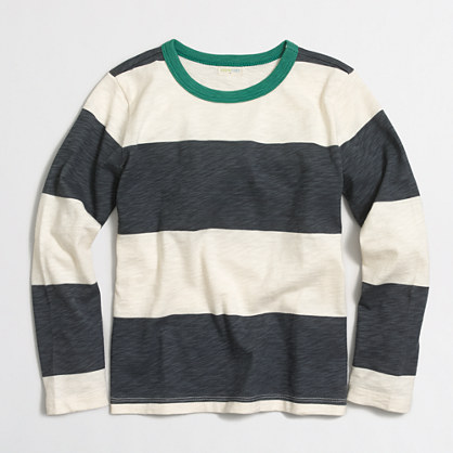 Boys' long-sleeve T-shirt in stripe