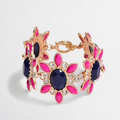 Factory crystal flower bracelet
