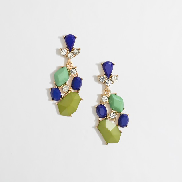 Factory crystal and stone chandelier earrings