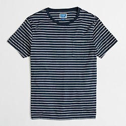 Factory slim striped pocket T-shirt