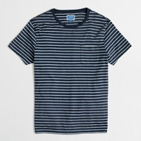 Tall slim striped pocket T-shirt