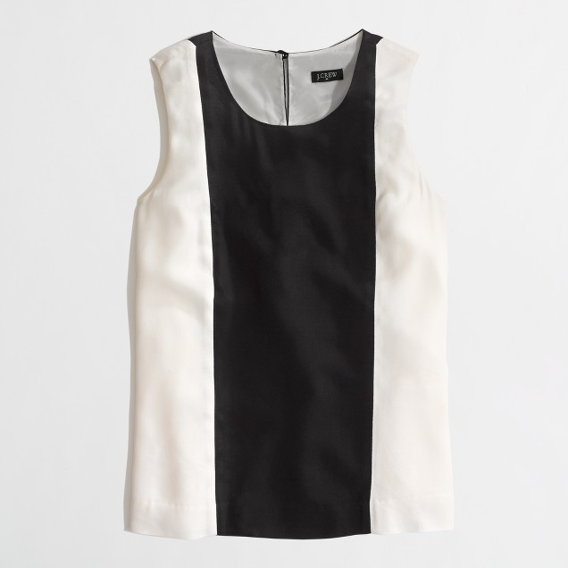 Factory sleeveless colorblock top