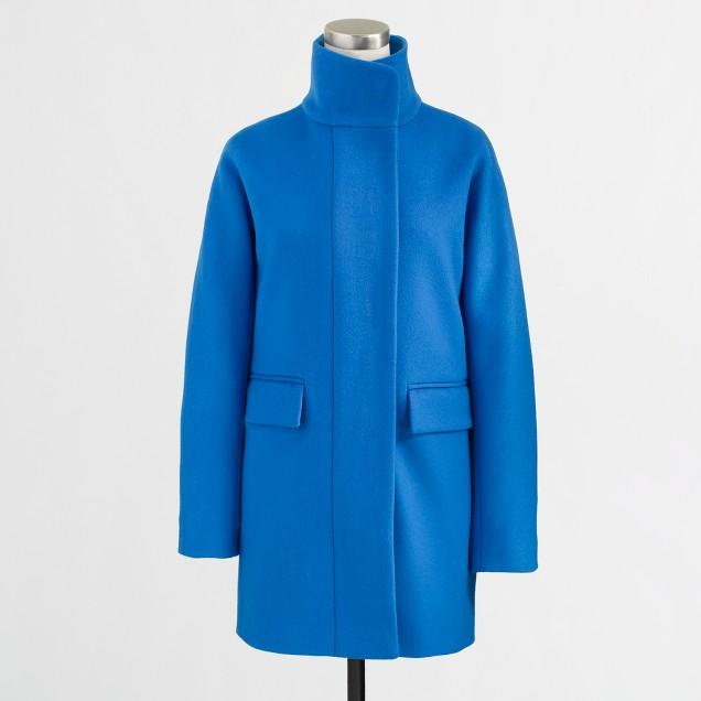 Factory wool cocoon coat