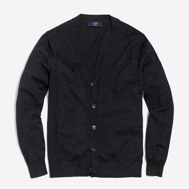 Merino wool cardigan sweater
