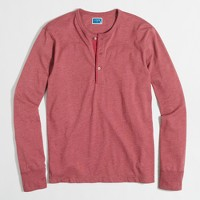 Marled cotton henley