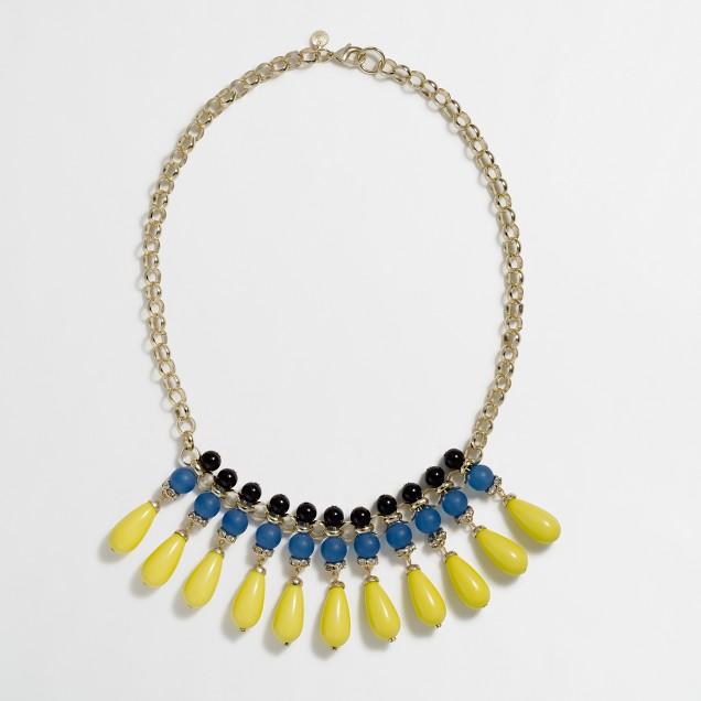 Factory multicolor teardrop necklace