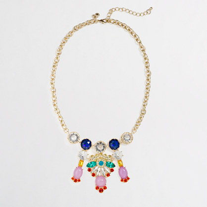 Factory multicolor chandelier necklace