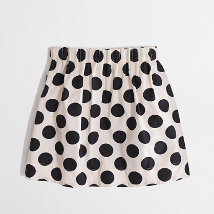 Factory girls' polka-dot pleated skirt