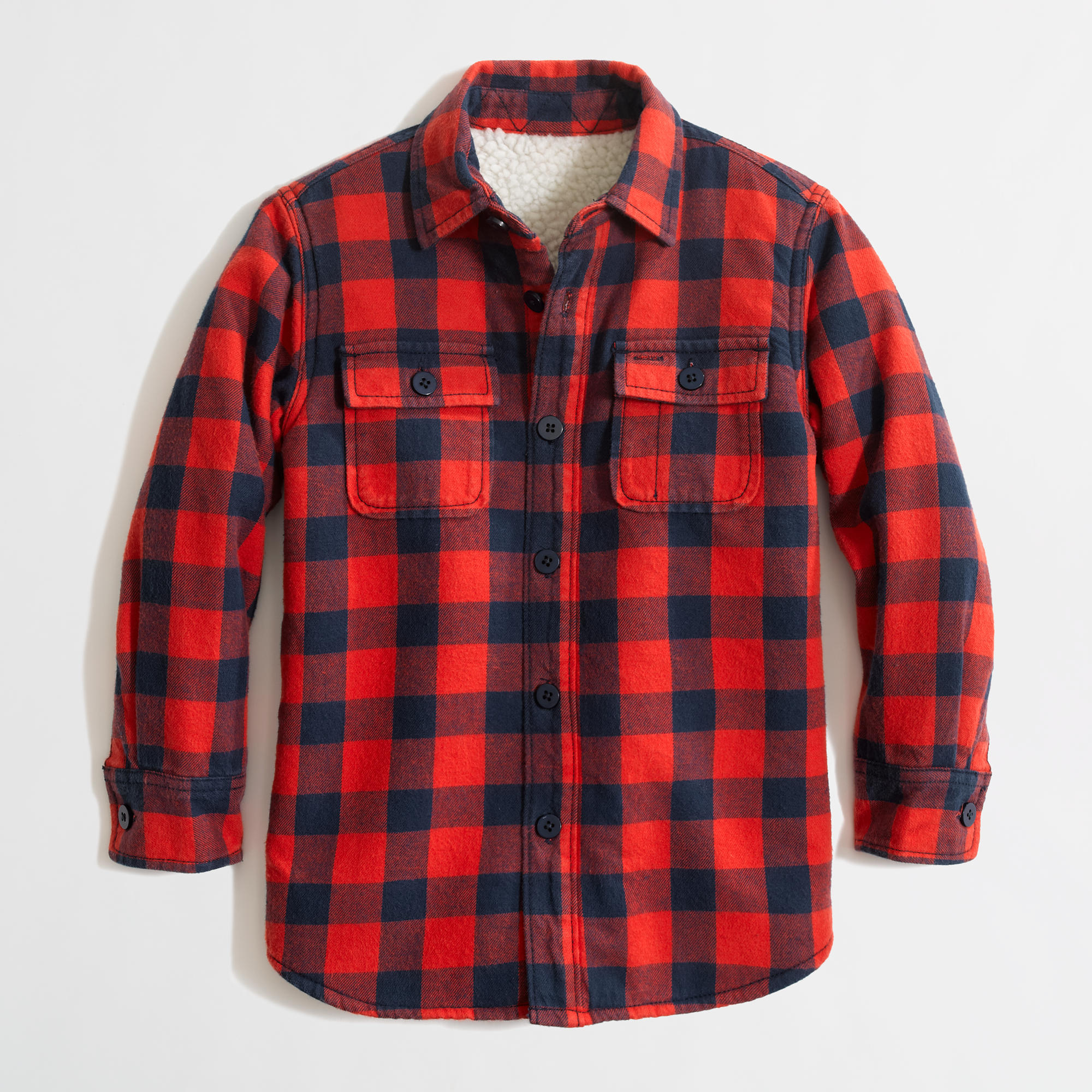 Factory Boys 39 Sherpa Lined Flannel Jacket Factory