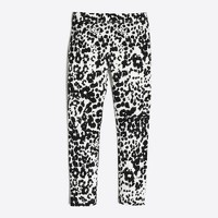 Girls' snow leopard leggings