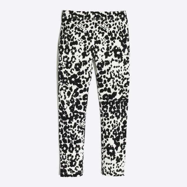Girls' snow leopard leggings
