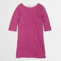 Factory girls' printed boatneck dress