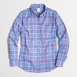 Factory plaid classic button-down shirt in perfect fit