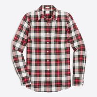 Plaid classic button-down shirt in perfect fit