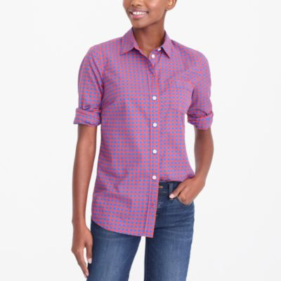 Plaid classic button-down shirt in perfect fit factorywomen shirts & tops c