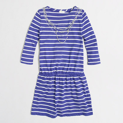 Factory girls' stripe necklace dress