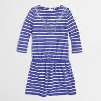 Factory girls' stripe necklace dress