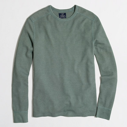 Long-sleeve heathered thermal T-shirt