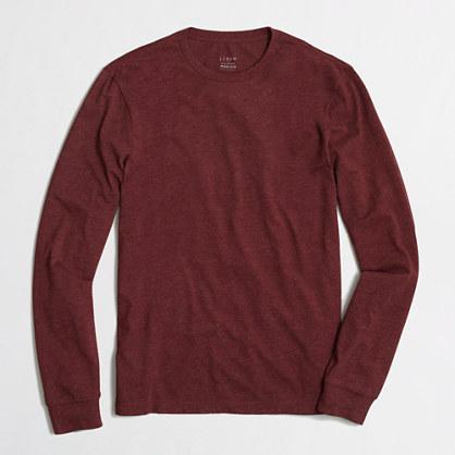 Heathered long-sleeve T-shirt