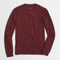 Slim heathered long-sleeve T-shirt