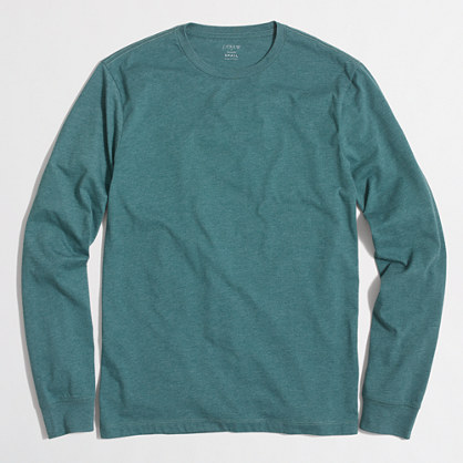 Heathered long-sleeve T-shirt
