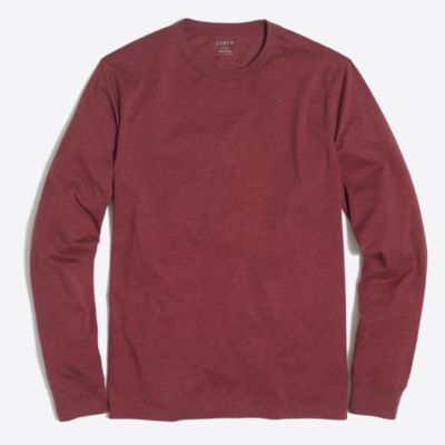Heathered long-sleeve T-shirt factorymen t-shirts & henleys c