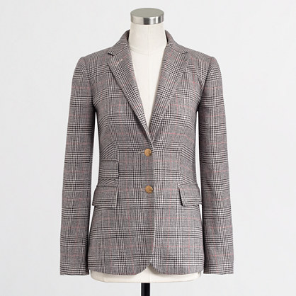 Factory hacking jacket in check
