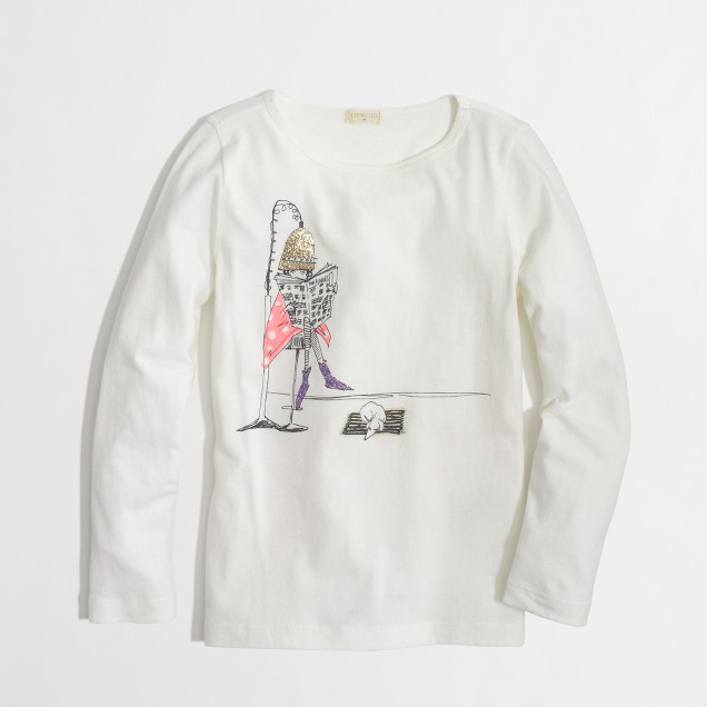 Factory girls' long-sleeve salon keepsake tee