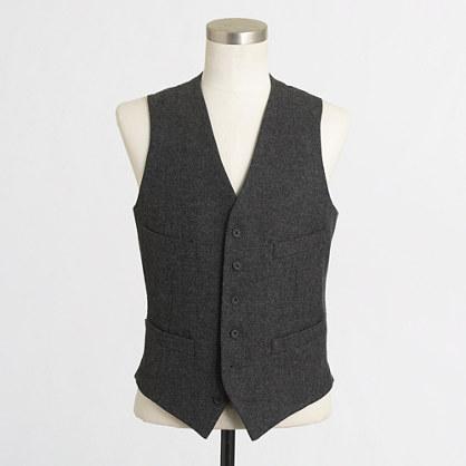 Factory Thompson suit vest in herringbone
