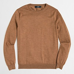 Slim merino wool crewneck sweater