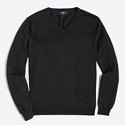 Slim merino V-neck sweater