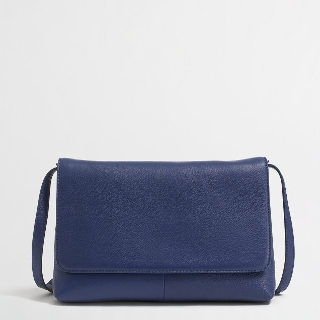 Factory convertible leather clutch