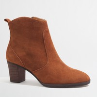 Factory Quinn suede ankle booties