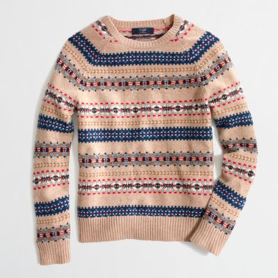 Factory lambswool Fair Isle sweater : | Factory